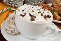 Hot chocolate on Christmas Stock Image