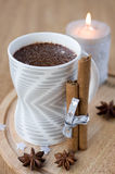 Hot chocolate for Christmas Royalty Free Stock Images