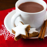 Hot chocolate with christmas cookies