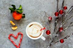 Hot chocolate and Christmas decor