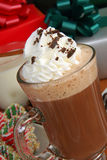 Hot chocolate and Christmas gifts Royalty Free Stock Images
