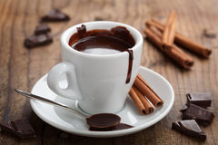 Hot chocolate with cinnamon Royalty Free Stock Image