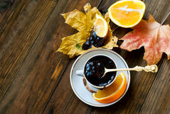 Hot chocolate with cinnamon withorange Stock Images