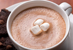 Hot Chocolate Close Up Royalty Free Stock Photography