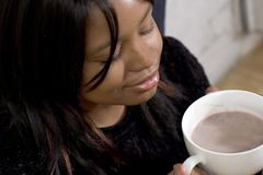 Hot Chocolate, Closed Eyes stock photos