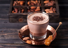 Hot chocolate or cocoa drink Stock Photo