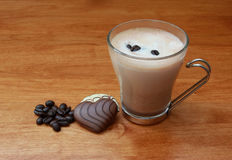 Hot Chocolate with coffee Stock Photography
