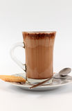 Hot chocolate and a cookie royalty free stock photos