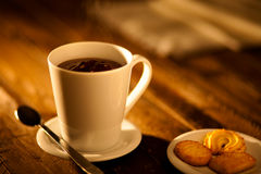 Hot Chocolate with Cookies Royalty Free Stock Photos