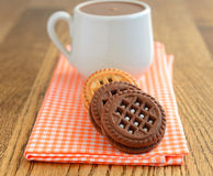 Hot chocolate and cookies Royalty Free Stock Image