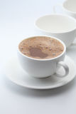 Hot chocolate. A cup of hot chocolate Royalty Free Stock Images