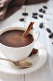Hot Chocolate in cup Royalty Free Stock Images