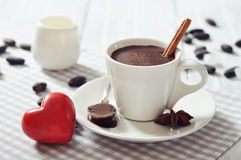 Hot Chocolate in cup Royalty Free Stock Photo