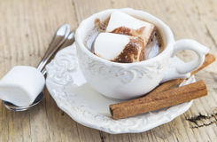 Hot Chocolate Cup with Marshmallows Royalty Free Stock Photography