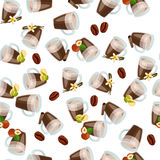 Hot chocolate cup Stock Photo