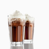 Hot chocolate. Cup of hot chocolate with whipped cream Royalty Free Stock Photo