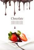 Hot chocolate desert Stock Image
