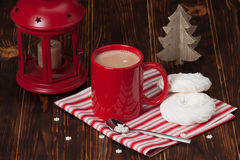 Hot Chocolate Drink. Christmas Sweets And Stock Photo