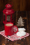 Hot Chocolate Drink. Christmas Sweets And Royalty Free Stock Photos