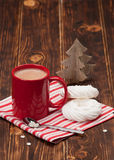 Hot Chocolate Drink. Christmas Sweets And Royalty Free Stock Image