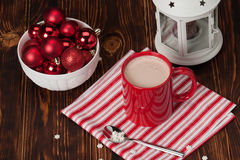 Hot Chocolate Drink. Christmas Sweets And Royalty Free Stock Images