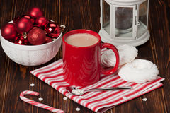 Hot Chocolate Drink. Christmas Sweets And Stock Photography