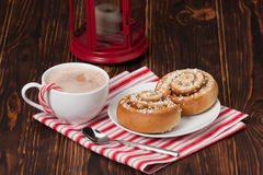 Hot Chocolate Drink. Cinnamon Swirls. Christmas Stock Images