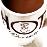 Hot chocolate Drink - close up Royalty Free Stock Images