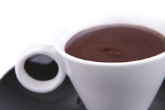 Hot chocolate drink close up Royalty Free Stock Images