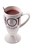 Hot chocolate drink isolated Stock Images