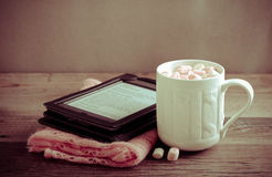 Hot chocolate drink with marshmallow Royalty Free Stock Photo