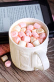 Hot chocolate drink with marshmallow Stock Photo