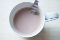 Hot Chocolate. Drink hot chocolate in morning Stock Image