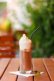 Hot chocolate drink with whipped cream Stock Photos