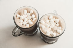 Hot chocolate drinks. Hot chocolate with moody background tones Royalty Free Stock Photography