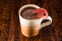 Hot Chocolate in the Fall Stock Photo