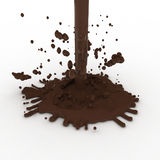 Hot chocolate falling from above Stock Photo