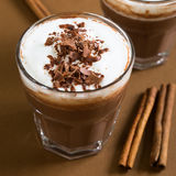 Hot chocolate with foam Stock Photography
