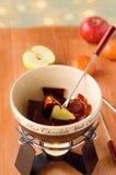 Hot chocolate fondue Royalty Free Stock Image