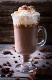 Hot chocolate garnished with whipped cream Royalty Free Stock Image