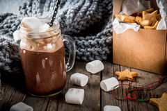 Hot chocolate and ginger stars Royalty Free Stock Photo