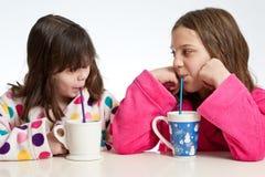 Hot Chocolate Girl Time Stock Photo