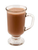 Hot Chocolate in a Glass Mug Stock Photos