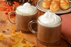 Hot chocolate for the holidays Stock Images