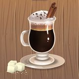 Hot chocolate 2 royalty free illustration