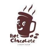 Hot chocolate logo template vector illustration
