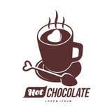 Hot chocolate logo template stock illustration