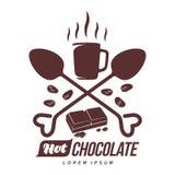 Hot chocolate logo template royalty free illustration