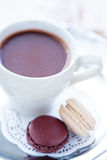 Hot chocolate and macaroons Stock Photography