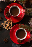 Hot chocolate with Madeleine cookies Royalty Free Stock Photography